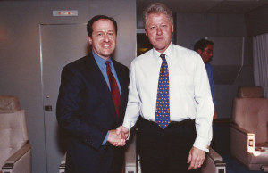 President Bill Clinton with David Leland