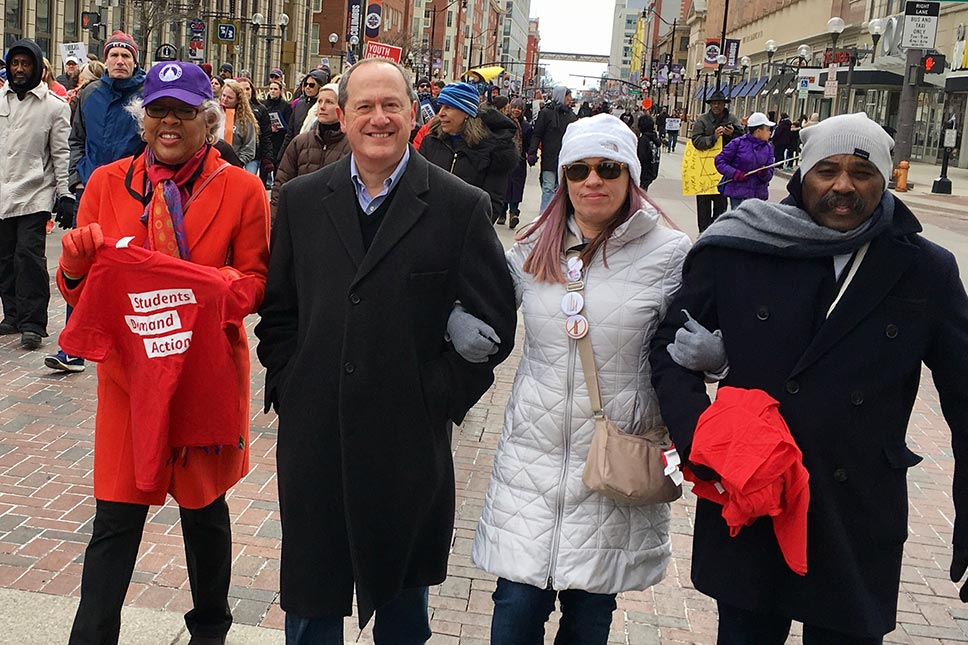 David Leland Marching In The Students Against Gun Violence March