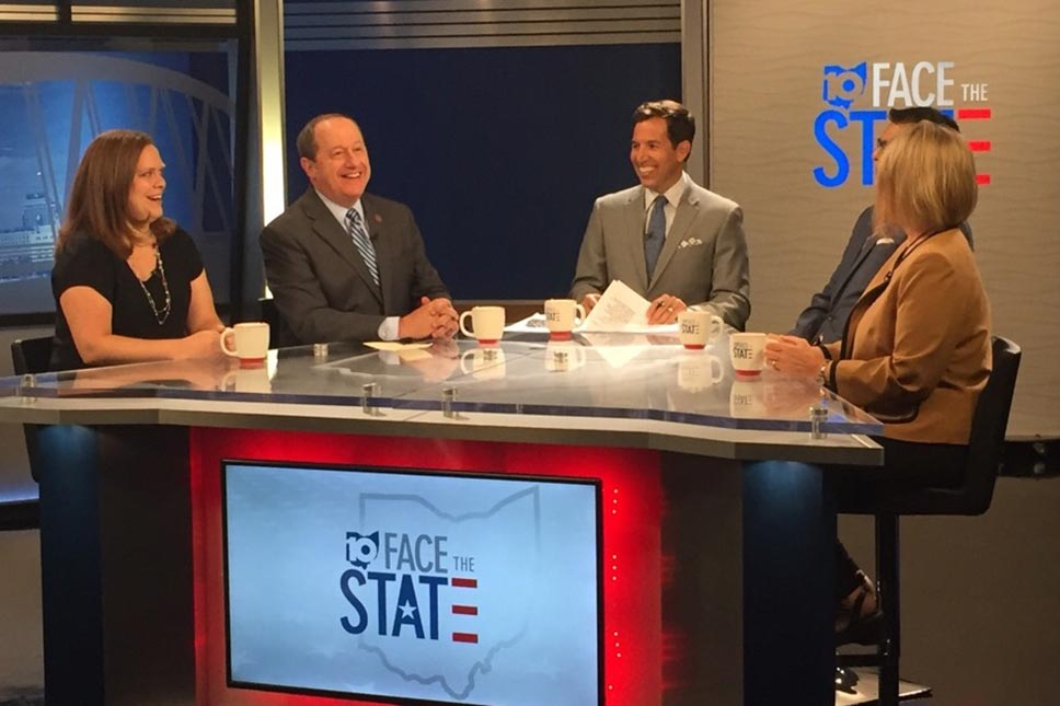 David Leland On The Set Of Face The State Television Show
