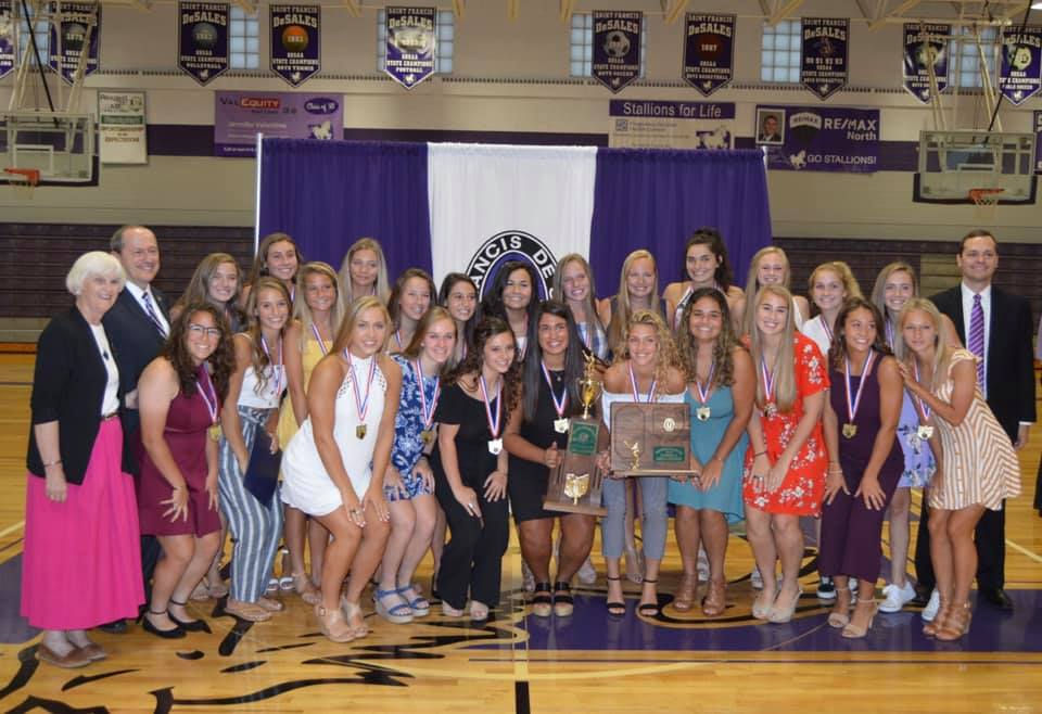 2019 State Champion Women's Lacrosse Team From Saint Francis DeSales