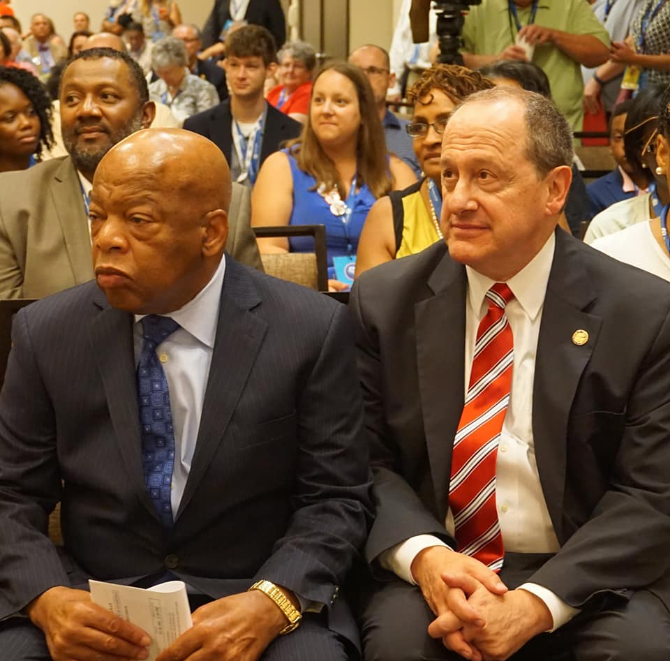 Rep. John Lewis And Ohio Rep. David Leland
